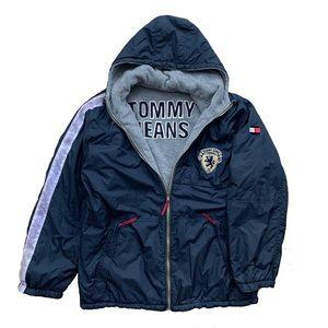 🔹Vintage Tommy Jeans Reversible Winter Jacket (L)